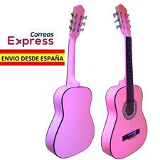 Guitarra Clasica Española Rosa. Nueva. Tamaño de Adulto 4/4. Color Rosa Chicle