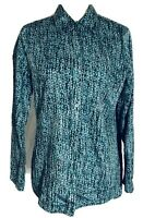 Westbound Women's Medium Blouse Wrinkle Free Multicolored Long Sleeves Button