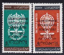 1962 YEMEN / (Kingdom), Michel n° 33A/34A MNH/** INVERTED OVERPRINT