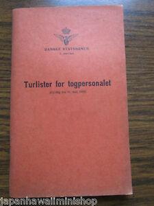 DENMARK DSB Train-Crew Roster Zugpersonal-Dienstpläne Turlister togpersonal 1959