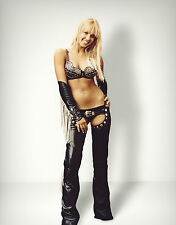 Jessica Alba 8x10 sexy leather chaps, leather bra, leather panties third angle