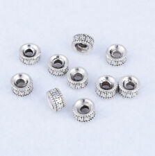 Nice 50pcs Tibetan silver Round Loose Spacer Beads Jewelry Findings DIY 6x3mm