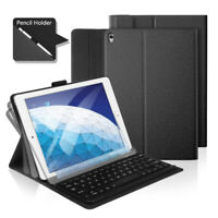 """For Apple iPad Pro 10.5"""" Bluetooth Smart Keyboard Leather Stand Case Cover Black"""
