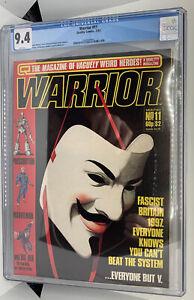 Warrior 11 - CGC 9.4 - V For Vendetta