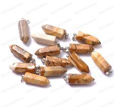Wholesale Natural Gemstones Hexagonal Pointed Reiki Chakra Pendant Bead Necklacs