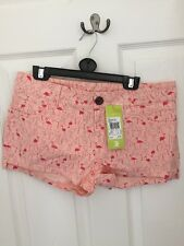 "Adidas Neo Shorts Womens Ladies Flamengos Pink Hazel Coral Joy 27"" Waist New XS"