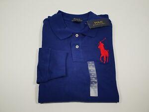 New Authentic Polo Ralph Lauren Custom Fit Mesh Polo LS T-Shirt 12/14 Yrs Boys!
