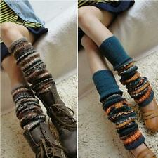 Ladies Winter Over Knee Long Socks Knit Crochet Leg Warmers Legging Stocking Hot