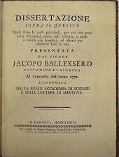 MEDICINA - ediz.1773 - PEDIATRIA - Ballexerd - Mantova - prima edizione