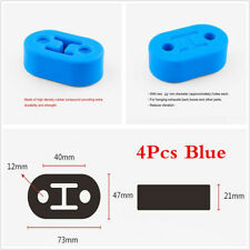 Blue 4Pcs Universal Car Polyurethane Rubber 2 Hole 12MM Exhaust Muffler Hangers