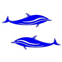 2*Adesivi con Delfino Stampa per Auto, Kayak, Barca Decalcomania Stickers