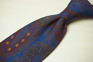 Turnbull & Asser Ancient Madder Multicolor Paisley 100% Silk Tie Made England