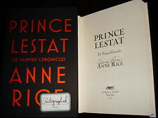 Anne Rice signed Prince Lestat 1st printing hardcover book Vampire Chronicles