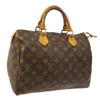 LOUIS VUITTON SPEEDY 30 HAND BAG PURSE MONOGRAM CANVAS M41526 Sp0993 A52715