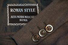 Brioni Brown Metallic Button 100% Wool Sport Coat Jacket Sz 42