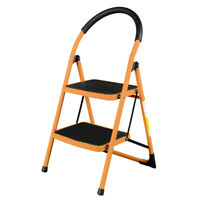 New Portable 2 Step Ladder Folding Stool Industrial Lightweight 330Lbs Capacity
