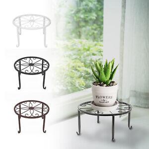 Metal Plant Pot Stand Outdoor Indoor Garden Balcony Flower Display Shelf UK