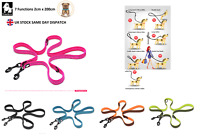 Truelove 7 in 1 Multi Function Dog Leads Reflective Hand Free Dog Training Lead