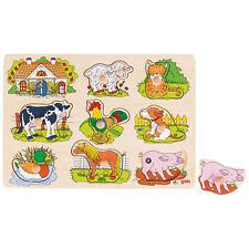 """goki Soundpuzzle """"Bauernhof"""" 57895 - Steckpuzzle mit Tierstimmen 8 Teile"""