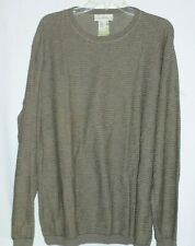 Mint$375 Mens Ermenegildo Zegna Large Brown Crewneck Sweater ITALY e52 Nordstrom