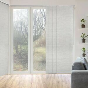 """Marble Natural Woven Adjustable Sliding Window Panel Track Up to 86"""" W x 96 in L"""
