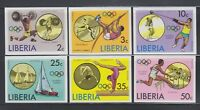 Liberia 1976  Sc 736-741 IMPERF  Summer Olympics complete mint never hinged