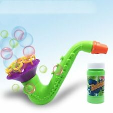 Plastic Electric Automatic Bubble Machine Fan Gun Blower Kids Playing Toys Air