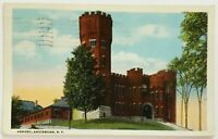 Postcard Amsterdam NY Armory Building Front View New York 1920's White Border