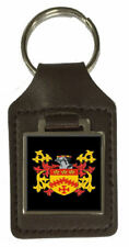 Conroy Family Crest Surname Coat Of Arms Brown Leather Keyring Engraved