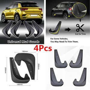 4 Piece Universal Car SUV Front Rear Mud Flaps Guards Splash Fender Accessories