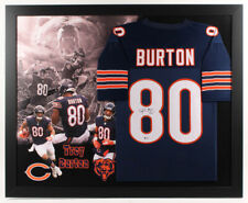 Trey Burton Signed Chicago Bears 35x43 Custom Framed Jersey (Beckett Hologram)