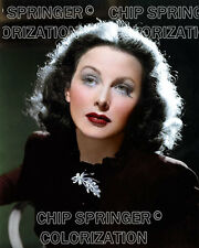 HEDY LAMARR WEARING A DIAMOND PENDANT BEAUTIFUL COLOR PHOTO BY CHIP SPRINGER