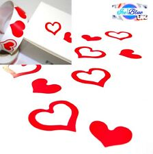 Red Heart Stickers - Double Love Hearts Wedding Valentine Xmas Mothers Day Cards