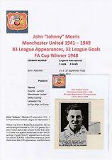 Johnny Morris Manchester United 1941-1949 Raro Original Firmado Revista De Corte