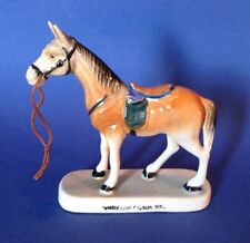 Hand Painted Race Horse Figurine - Souvenir Of Watkins Glen NY - Made In Japan
