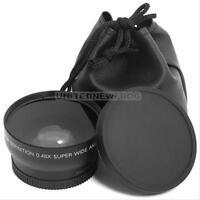 52MM 0.45x Fisheye Wide Angle Macro Lens+ Bag for Nikon D3200 D3100 D5200 D5100