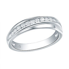 Wedding Band Eternity Ring For Women Engagement Bridal Sterling Silver White Cz