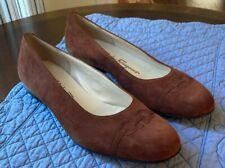 Ferragamo Size 8 Brown Ballet Flat