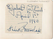 ELIZABETH LOCKHART + 3 OTHERS - Signed Autograph Album Page - VIOLINIST