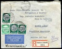GERMANY TO ARGENTINA Air Mail Registered Cover 1936