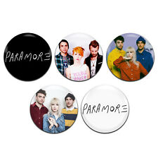 5x Paramore Band Rock Emo Pop 25mm / 1 Inch D Pin Button Badges