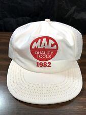 Vintage 1982 Mac Quality Tools Snapback Hat Trucker Cap Made USA Clean