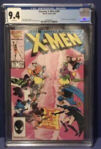 The Uncanny X-Men #208 VF+ 9.4 CGC WHITE PAGES Marvel 1986 HELLFIRE & NIMROD