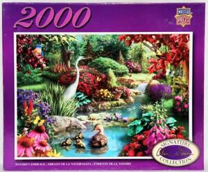 2000 PIECE JIGSAW PUZZLE NATURE'S EMBRACE COMPLETE EXCELLENT CONDITION