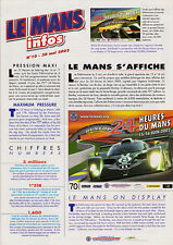 Le Mans Infos 2002 - Build Up, Test Day, Television, Tribute to Derek Bell