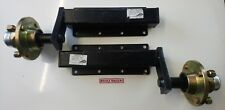 TRAILER SUSPENSION UNITS 500 KG EXTENDED COMPLETE WITH HUBS & BEARINGS IN BLACK