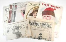 8 Antique 1890's 1900's Woman's Magazine World Ladies Advertisements Ads