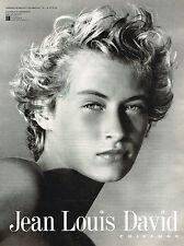 PUBLICITE ADVERTISING 094  1992  JEAN LOUIS DAVID   coiffure