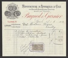 France 1904 illustrated invoice billhead Bugnod & Garnier mnf of Gas Appliances