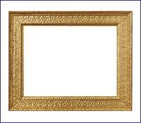 Rahmen - Spiegelrahmen um 1850  - Holz, vergoldet    (# 4060)